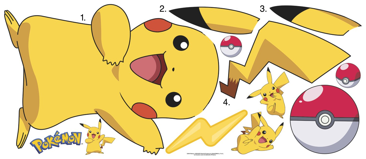 Room Mates Pokemon Pikachu Wall Decal Amp Reviews Wayfair