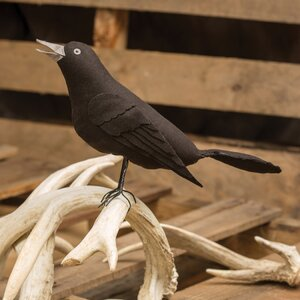 Black Crow Decor Figurine
