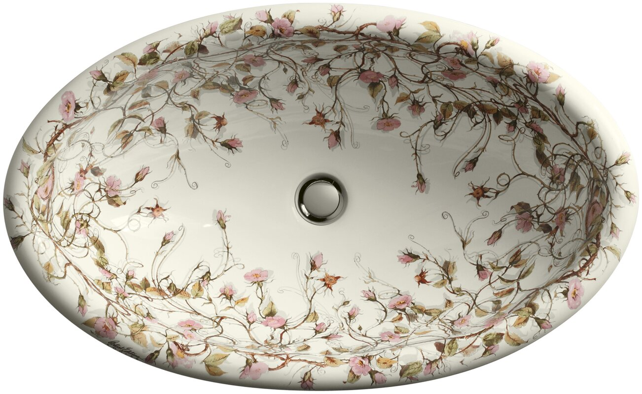 Kohler Briar Rose Ceramic Oval Drop In Bathroom Sink With Overflow Reviews