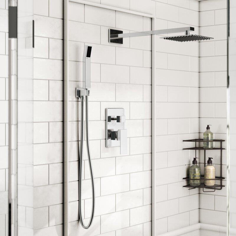 Rebrilliant Cahoon Diverter Complete Shower System with Square Rain ...