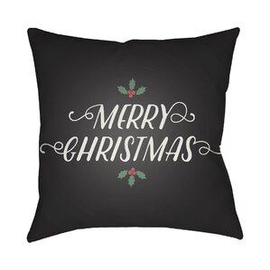 Morrell Merry Christmas Indoor/Outdoor Throw Pillow