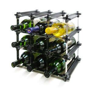 Epicureanist Snap and Stack Modular 9 Tabletop Wine Bottle Rack by Vinotemp