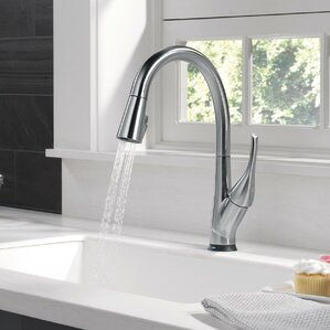 Marvelous Esque Touch Single Handle Kitchen Faucet With LED Light