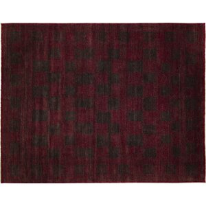 One-of-a-Kind Indo Modern Narses Hand-Knotted Red Area Rug