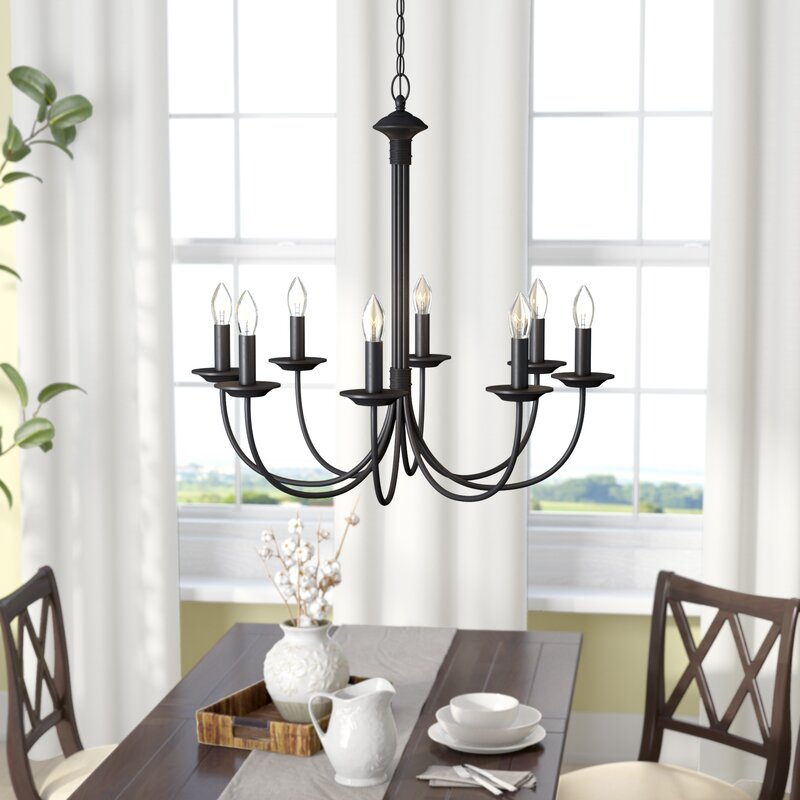 Farmhouse Kitchen Chandelier: Laurel Foundry Modern Farmhouse Shaylee 8-Light Candle