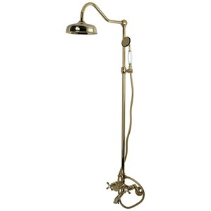 clawfoot tub and shower package. Vintage Double Handle Wall Mount Clawfoot Tub and Shower Package  Wayfair