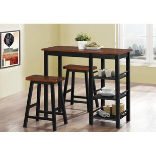 Coronel Wood 3 Piece Dining Set
