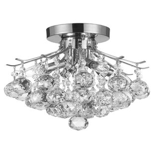 Flush Chandelier Flush mount mini chandelier wayfair dyann 4 light crystal semi flush mount audiocablefo