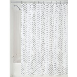 Chevron Sketched Shower Curtain