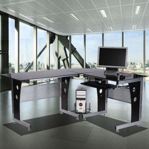 homcom computertisch mit tastaturauszug bewertungen. Black Bedroom Furniture Sets. Home Design Ideas