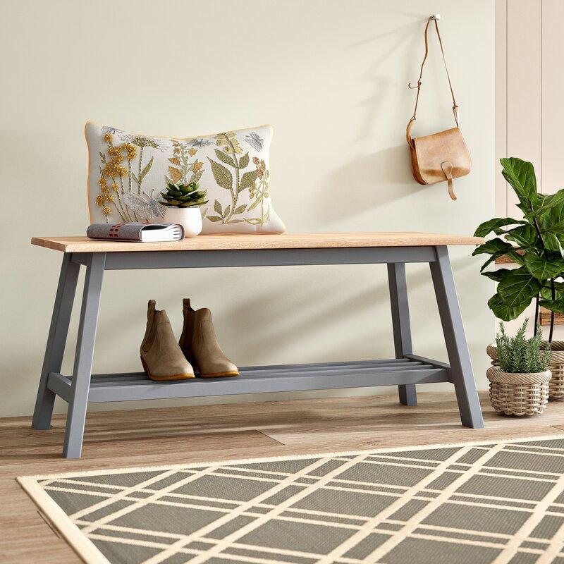 Brambly Cottage Mac Wood Shoe Storage Bench Reviews Wayfaircouk