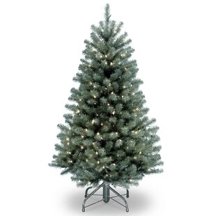 north valley blue spruce artificial christmas tree with clear lights with stand