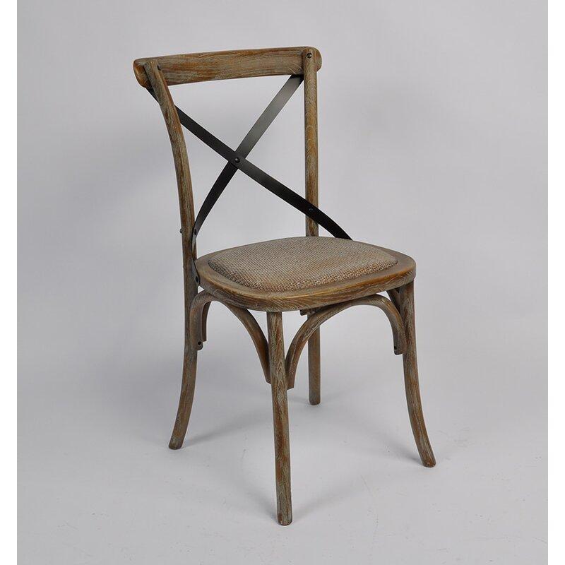 Clary Cross Back Weathered Dining Chair Gracie Oaks | Wayfair