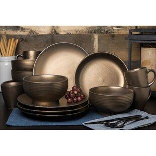 Teton 16 Piece Dinnerware Set Service for 4  sc 1 st  Wayfair & Rustic Dinnerware Sets Youu0027ll Love