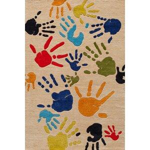 Johnnie Hand-Tufted Beige Kids Rug