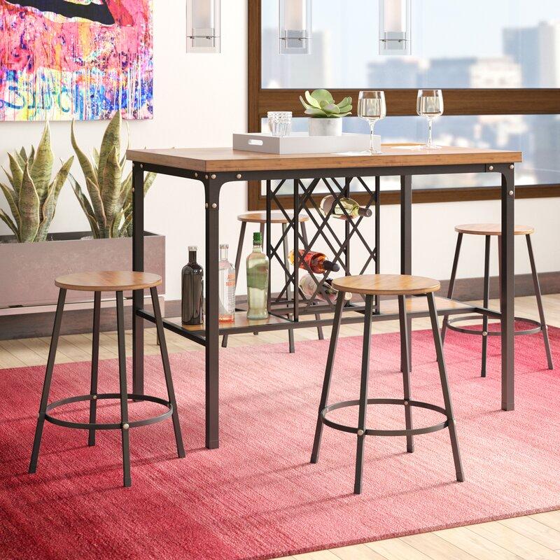 Latitude Run Calla 5 Piece Pub Table Set & Reviews   Wayfair