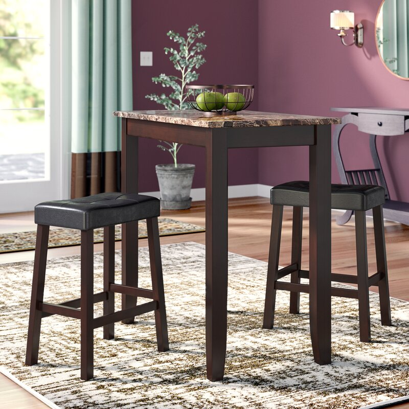 Andover Mills Daisy 3 Piece Counter Height Pub Table Set