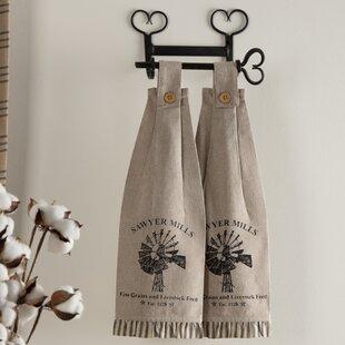 Surikova Tabletop And Kitchen Windmill On Loop Housewarming Towel Set Of 2