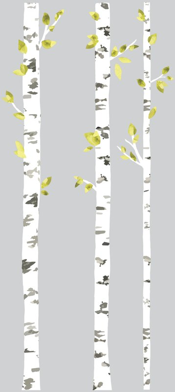 Elegant Tryon Birch Trees Wall Decal
