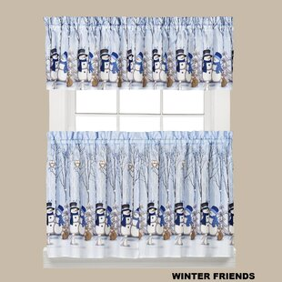 Winter Friends Cafe Curtain