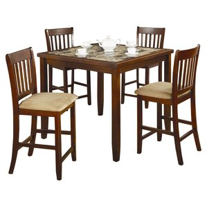 Hanley 5 Piece Counter Height Dining Set by Red Barrel Studio