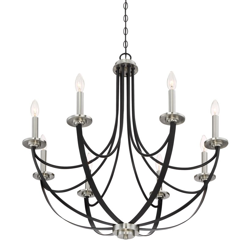 Gracie Oaks Siavash Mystic Black 8 Light Chandelier Reviews