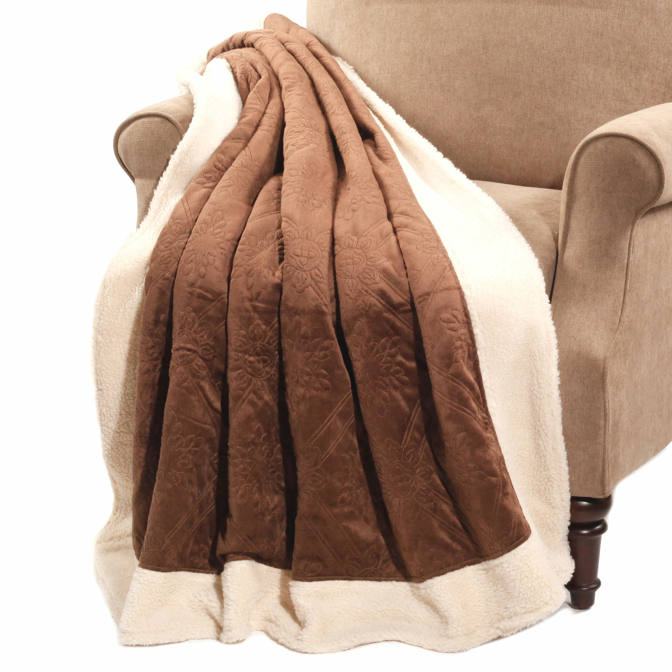 BOON Throw & Blanket Micro Plush Sherpa Throw & Reviews | Wayfair