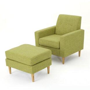 Mid Century Chair And Ottoman | Wayfair