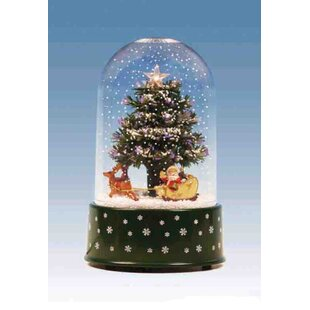 musical christmas tree snow globe