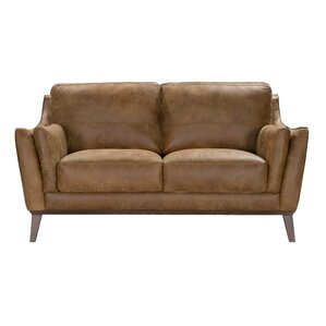 Blake Leather Loveseat by Corrigan Studio