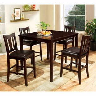 Bischof Severe 5 Piece Counter Height Solid Wood Dining Set