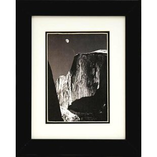 Moon And Half Dome By Ansel Adams Framed Graphic Art
