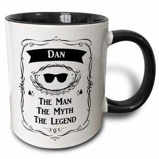 6a8e69240427 Litz Dan the Man the Myth the Legend Personal Name Personalized Gift Coffee  Mug