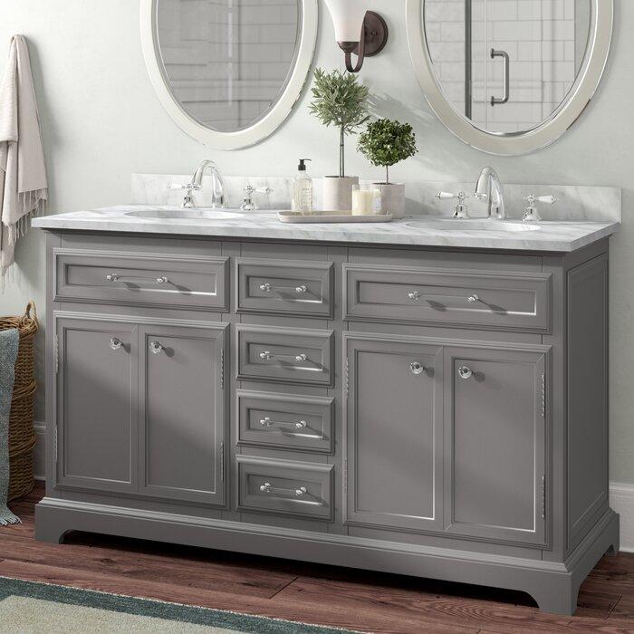 Three Posts Bergin 60 Double Bathroom Vanity Set Reviews Wayfair