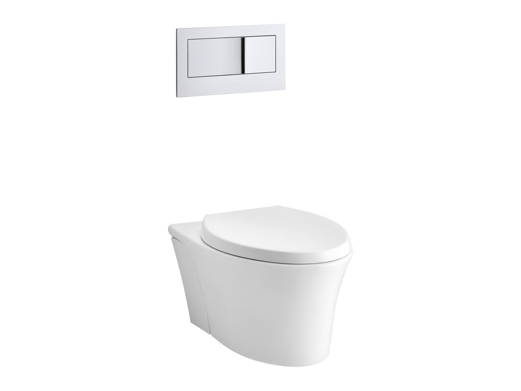 Veil One-Piece Elongated Dual-Flush Wall-Hung Toilet with Reveal Quiet-