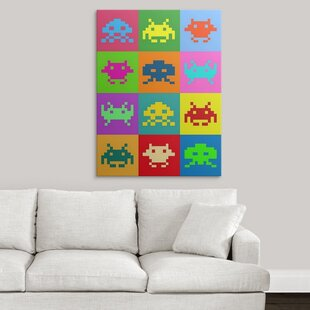 fb63fcd859f2  Space Invaders Squares  by Michael Tompsett Graphic Art Print