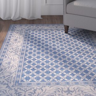 Benningfield All Weather Blue Indoor/Outdoor Area Rug