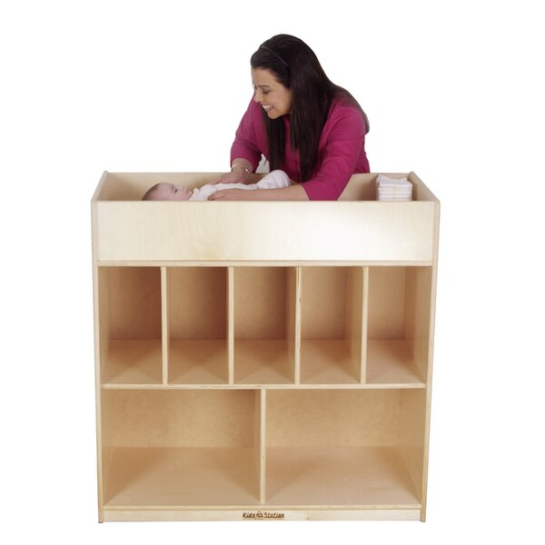 Kids Station Preschool Changing Table Storage Cubby
