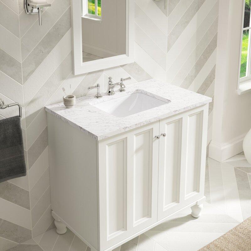 Kohler Caxton Ceramic Rectangular Undermount Bathroom Sink with ...