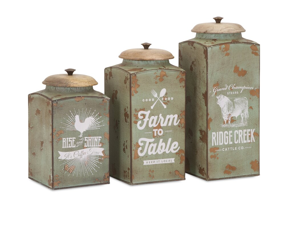 100 tin kitchen canisters storage containers jars canisters