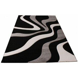 Amina Black/Grey/White Rug by Longweave