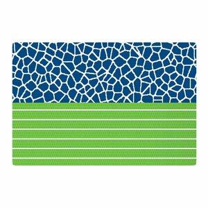 Trebam Staklo Green/Blue Area Rug