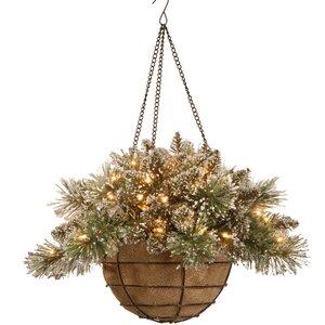 Pine Pre-Lit Hanging Basket