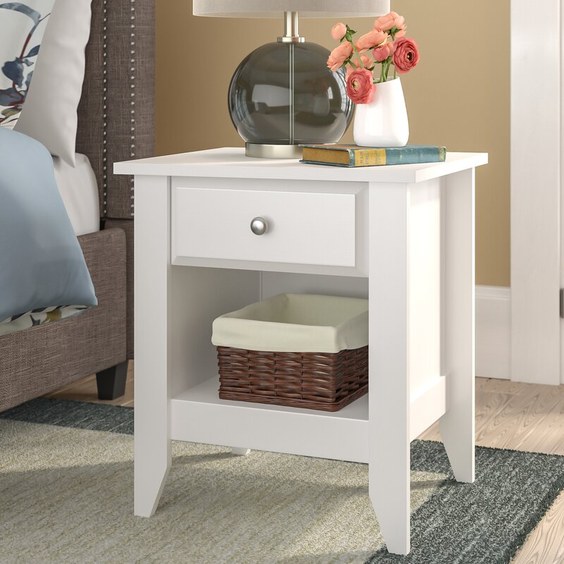Andover Mills Revere 1 Drawer Nightstand Amp Reviews Wayfair