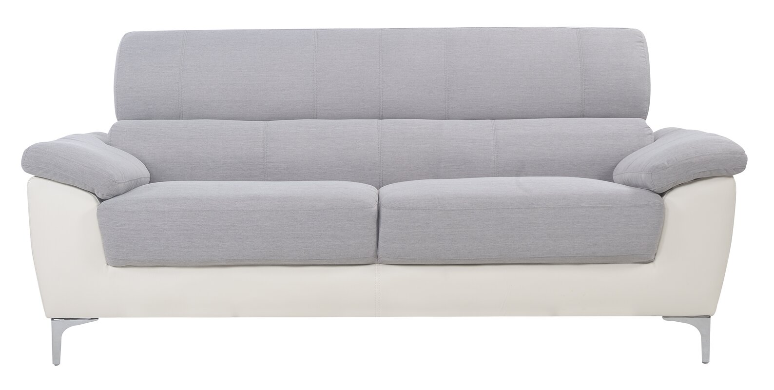 Madison Home USA Modern Two Tone Fabric and Bonded Leather ...