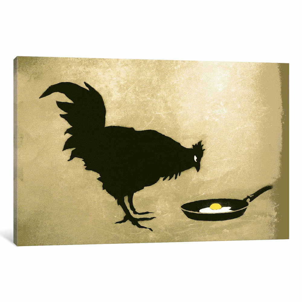 iCanvas Chicken & Egg by Banksy Graphic Art on Wrapped Canvas | Wayfair