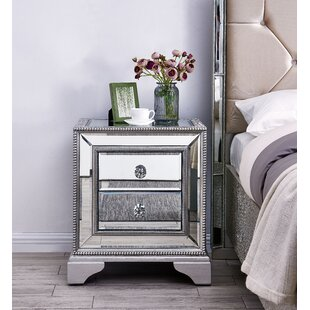 Sofia 2 Drawer Bedside Table By Derry's