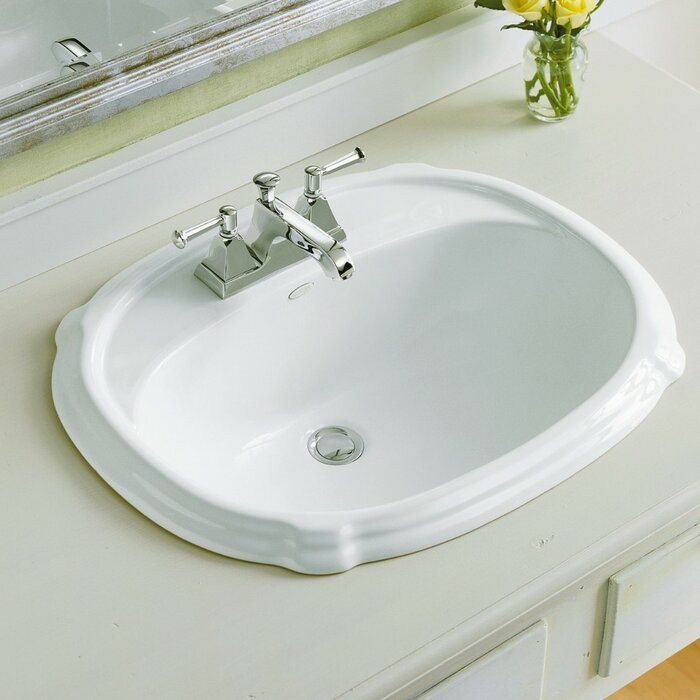 Astounding Portrait Ceramic Oval Drop In Bathroom Sink With Overflow Home Interior And Landscaping Palasignezvosmurscom