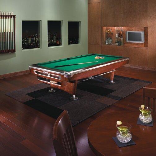 Brunswick billiards gold crown v billiard 9 39 pool table for Glass billiard table