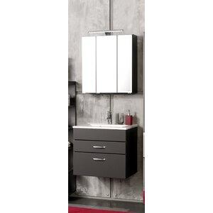 Badezimmer-Set Livorno mit beleuchtetem Spiegel ..